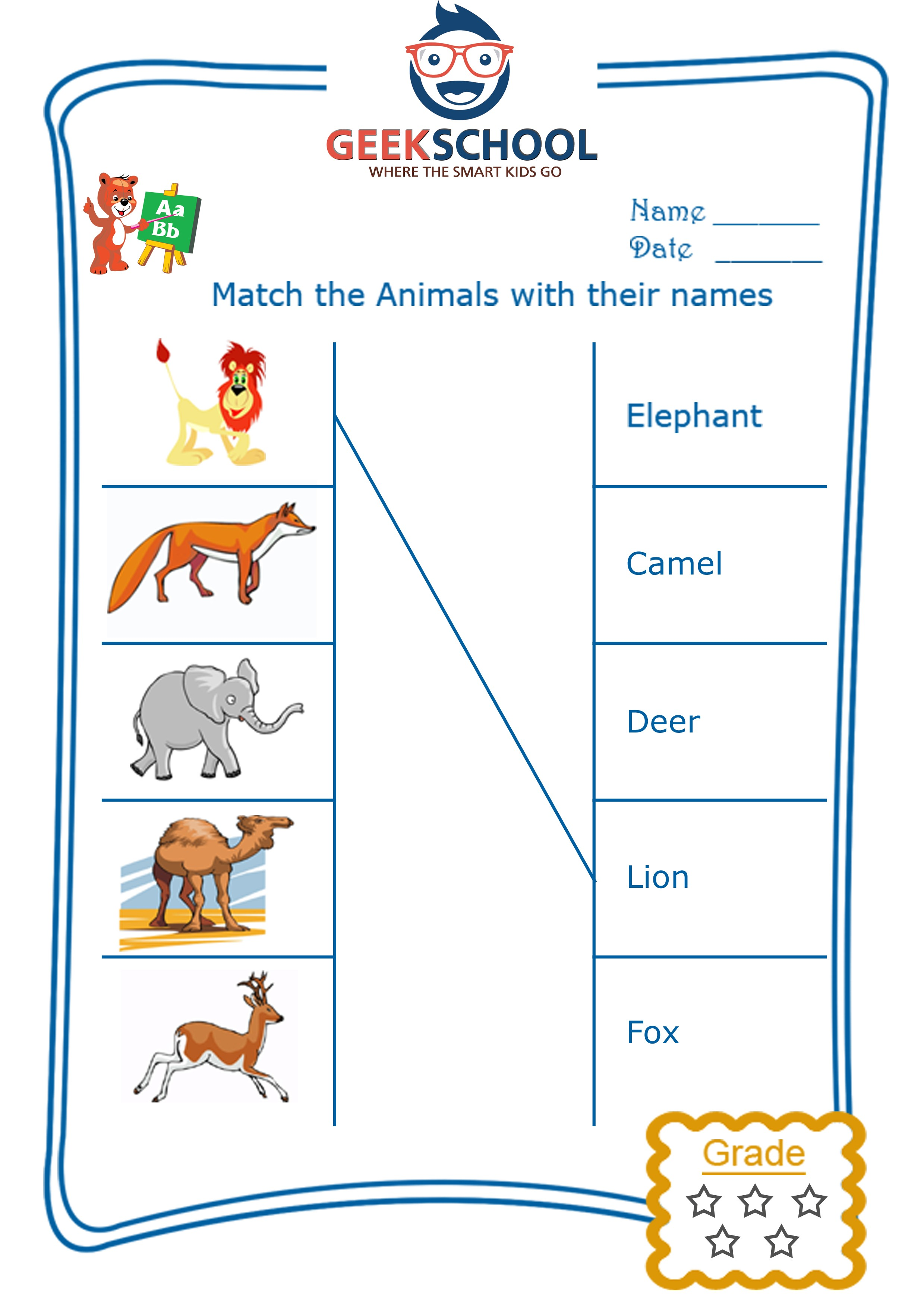 ... Free English worksheets / Spelling / Spelling worksheets: wild animals