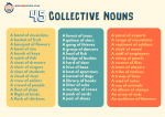 45 Collective Nouns Poster
